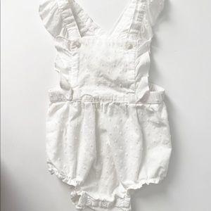 H&M White Swiss Dot Romper 6-9 Months